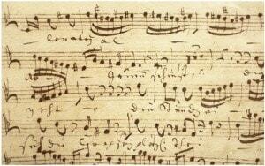 Old handwritten music manuscript