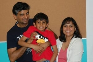 Shray Tomar and Family - Guitar Student