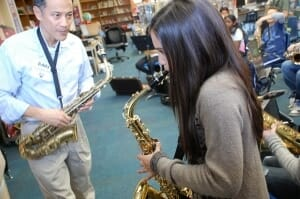 Saxophone School Lesson at Toronto School