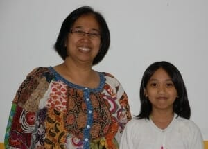 Toronto Violin Student Bernice Benigno and parent Rolly