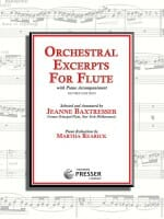 Cover of Orchestral Excerpts for Flute, compiled by Jeanne Baxtresser